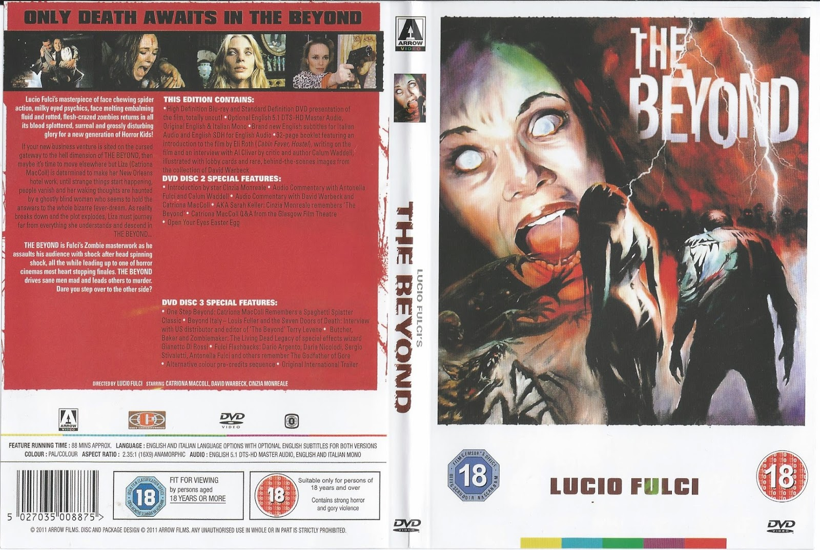 THE BEYOND DVD COVER FRONT